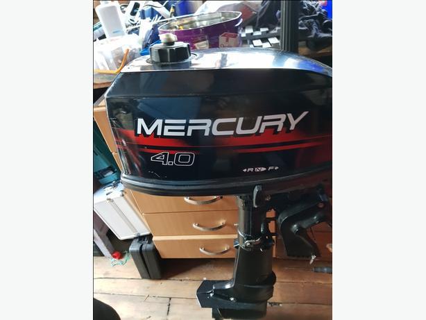Mercury 4 hp two stroke outboard,
