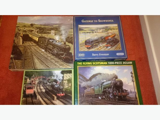 x4 1,000 piece jigsaw puzzles £2.50 each or all x4 for £8.50
