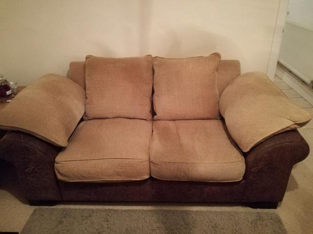large 2 seater sofa and snuggle chair