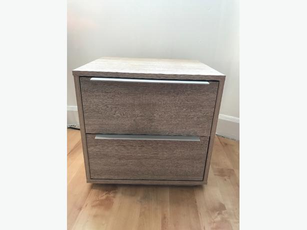 argos two drawer bedside table