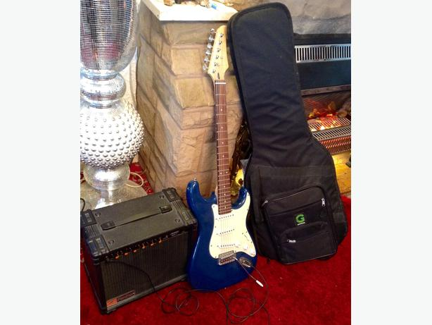 Electric Guitar with  Amlifier & Bag