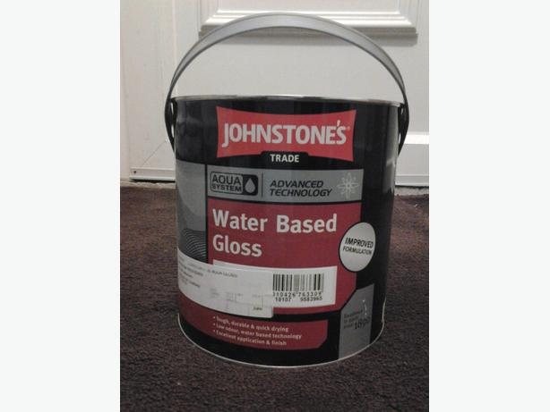 2.5 Ltr Johnstones Trade Aqua Water Based Gloss Paint Antique  brand new