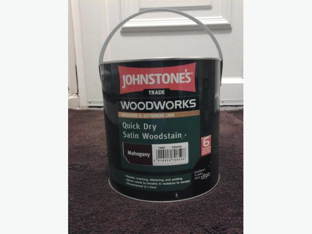 Johnstones trade quick drying satin wood stain Brand New Tin !!!!