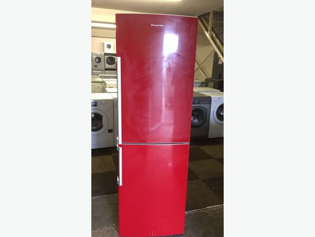 RED FRIDGE FREEZER BT RUSSELL HOBBS WITH GUARANTEE 🇬🇧🇬🇧🌎🌎🇬🇧🇬🇧
