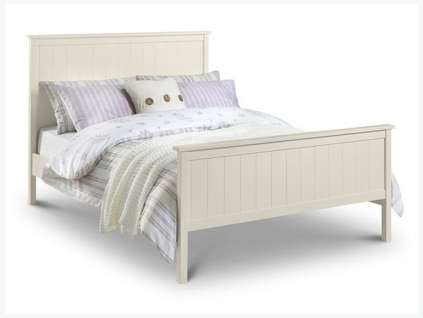 Double cream bed frame