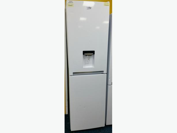 **GRADED - BEKO FRIDGE FREEZER WITH DRINKS DISPENSER + 12 WARRANTY **