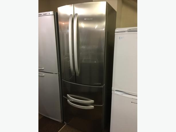 TALL WIDE STAINLESS STEEL FRIDGE FREEZER GOOD CONDITION🌎🌎PLANET APPLIANCE🌎🌎