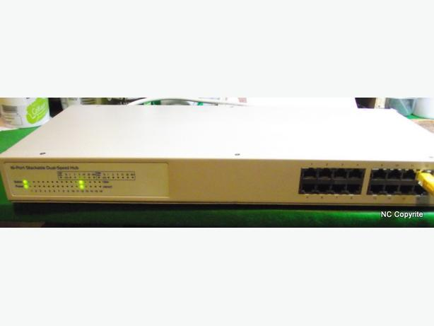 UNBRANDED DS-1600SX 16 PORT STACKABLE DUAL SPEED NETWORK HUB