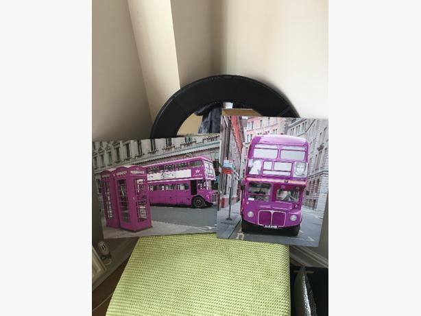 2 purple bus design canvas