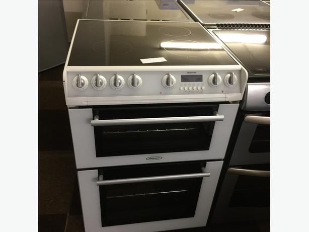 WHITE HOTPOINT 60CM ELECTRIC COOKER GOOD CONDITION🌎🌎PLANET APPLIANCE🌎