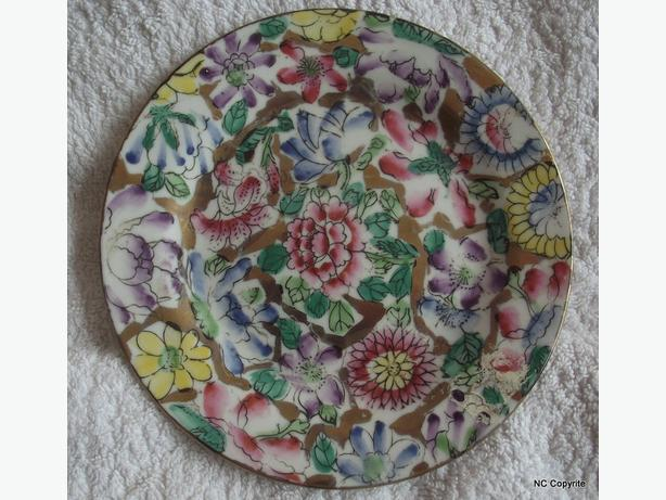 "HAND PAINTED 6"" (15cm) SMALL PLATE - FROM FAR EAST"