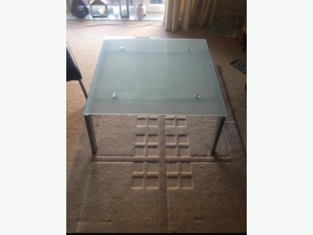 Large Square Glass Coffee Table Good Condition Can Deliver Locally for £5