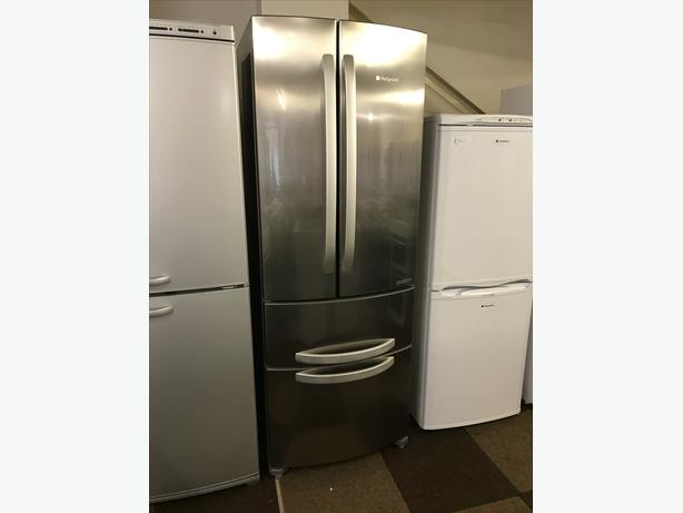 HOTPOINT FRIDGE FREEZER IN STAINLESS STEEL WITH GUARANTEE 🇬🇧🇬🇧🌎🌎