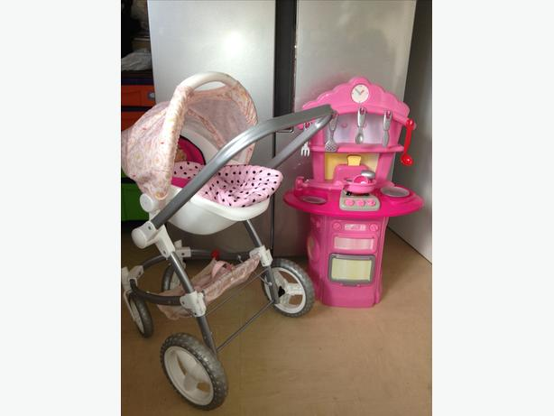 UNIQUE Baby Annabell Pram and kitchen