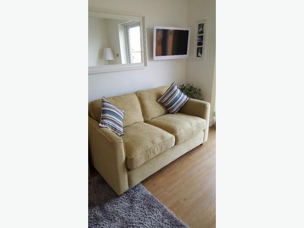 2 x 2 seater sofas one is bed settee