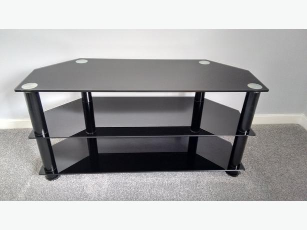 Black glass TV table/stand