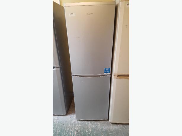 silver candy fridge freezer