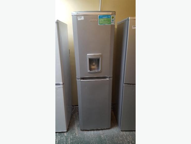 silver beko frost free water dispenser fridge freezer