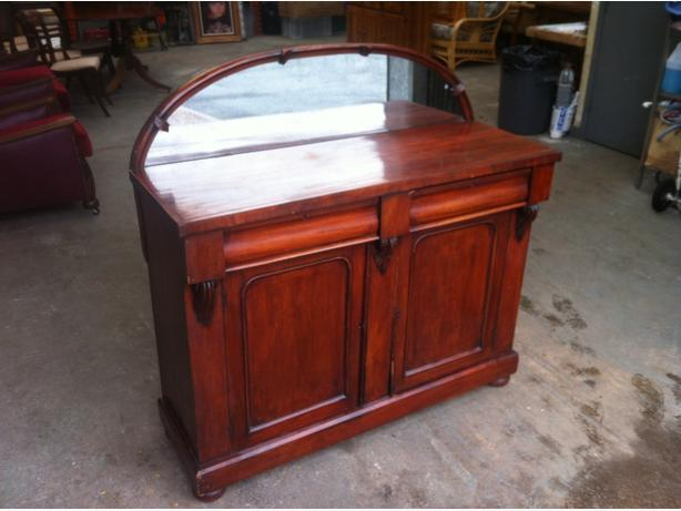 ANTIQUE VICTORIAN 4ft CHIFFONIER \ SIDEBOARD WITH MIRROR ~~ CAN DELIVER
