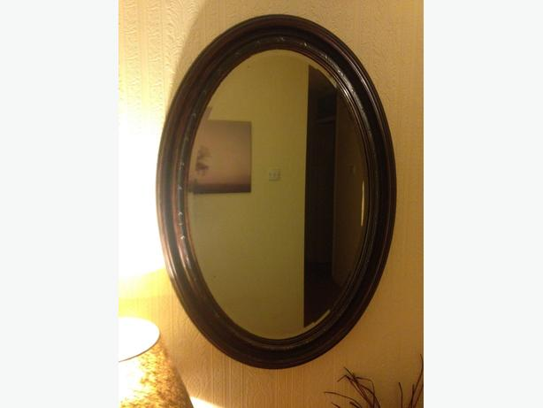 Nice victorian oval mirror