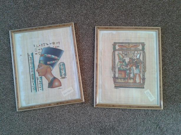 Egyptian Paintings on Papyrus.