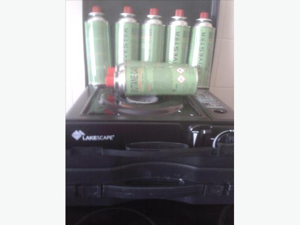 Portable gas stove x2 7 cans gas