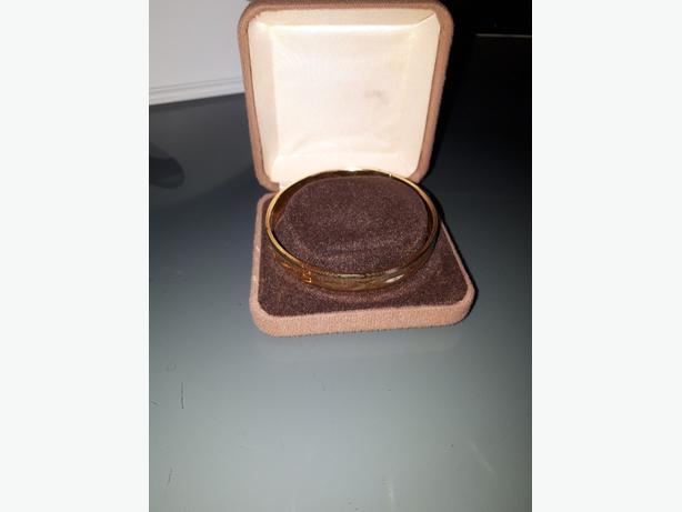 gold effect bracelet
