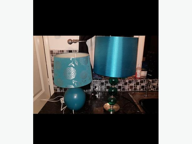 Teal Lamps