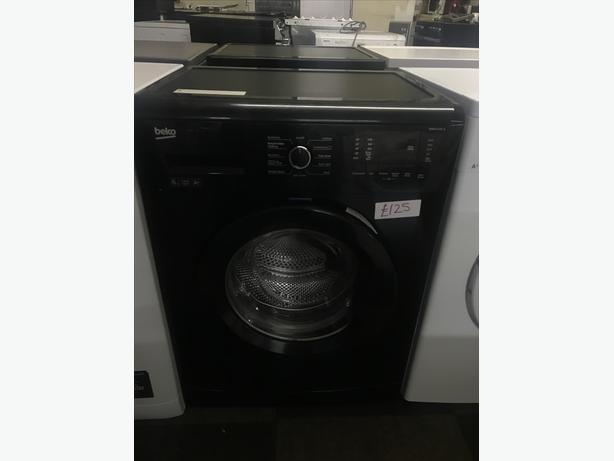 BLACK BEKO WASHING MACHINE WITH GENUINE GUARANTEE 🇬🇧🇬🇧🌎🌎🇬🇧🇬🇧
