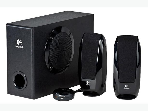 Black Logitech S220 2.1 Computer or TV Speakers with Subwoofer