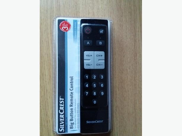 Brand New Silvercrest Hometech Big Button Remote Control