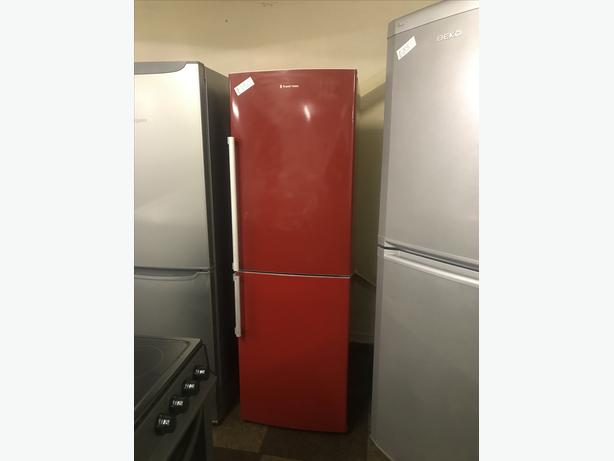 LOVELY RED FRIDGE FREEZER WITH GENUINE GUARANTEE 🇬🇧🇬🇧🌎🌎