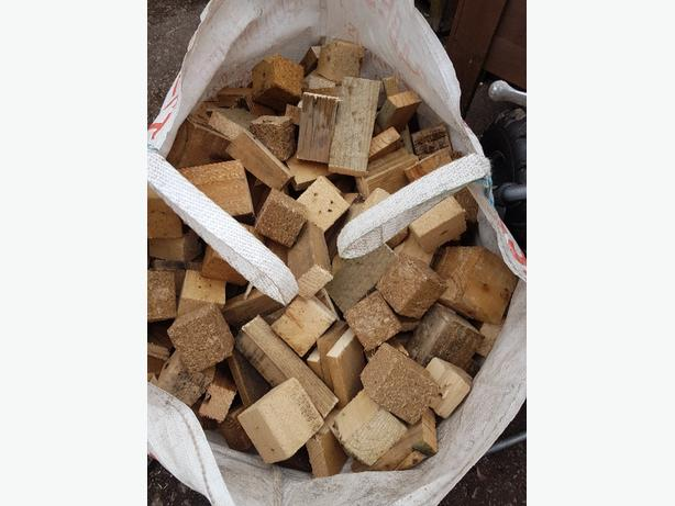 ton bags of hard wood blocks