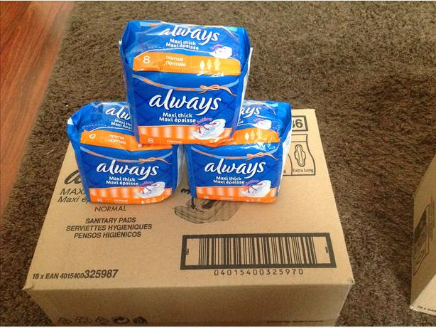 Always Sanitary Towels (absolute bargain/need gone today!!!)