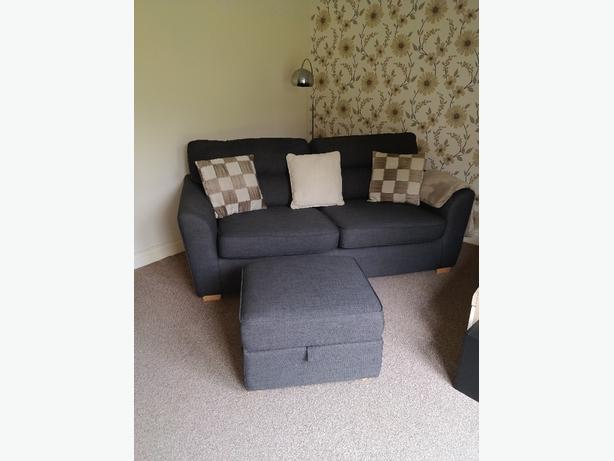 3 seat sofa and foot stool