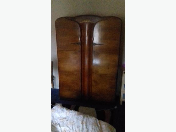 1960 original vintage double wardrobe