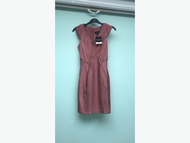 womens topshop pink dress