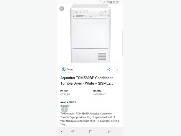 WANTED: faulty tumble dryers