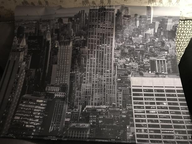 New York skyline roller blind 4ft