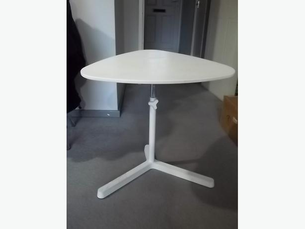 LAPTOP TABLE HEIGHT ADJUSTABLE WHITE