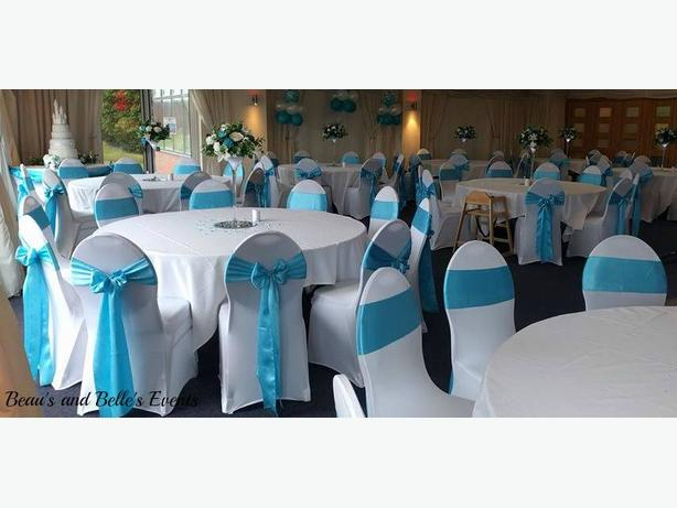 100 chair cover and sash hire
