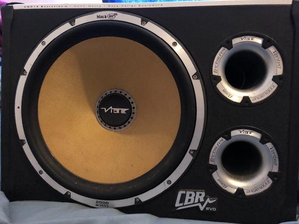 vibe 2000wat sub built in amp