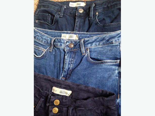 3 pairs of Topshop jeans