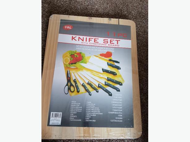 11 kitchen knife piece set