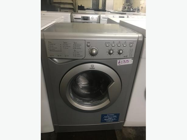 SILVER WASHER DRYER BY INDESIT WITH GUARANTEE 🇬🇧🇬🇧🌎🌎