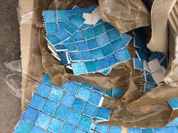 french mosaics blue green galapagos