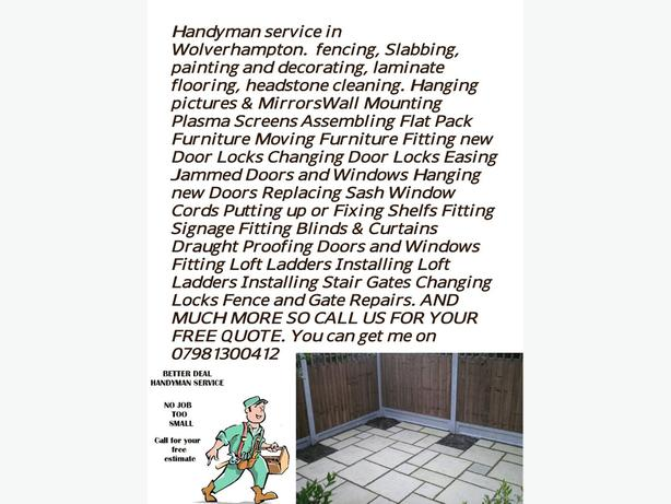 Handyman Services in Wolverhampton City.