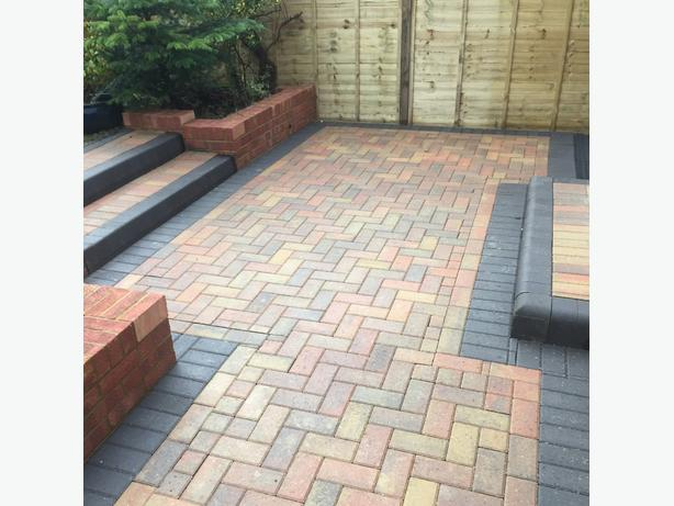 Block paving and slabbing.