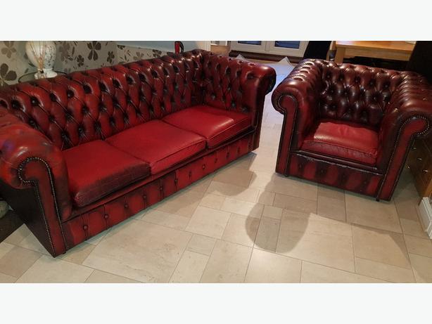 chesterfield sofa , tub chair