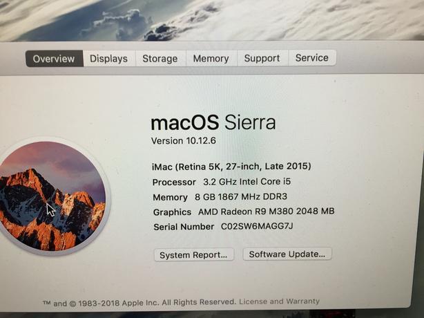 Apple iMac (retina 5k, 27-inch, late 2015)